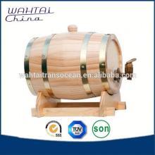 Large Wood Wine Keg