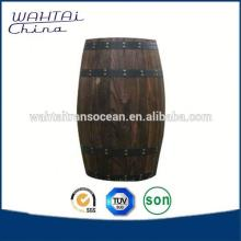 Decorate Wood Storage Barrel