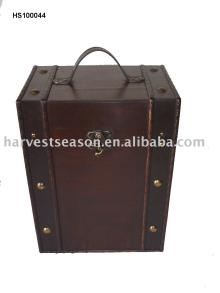 antique  wooden   wine   box  for six bottles