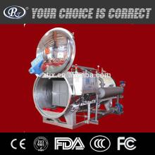 Automatic spray type retort for glass bottle and canned food