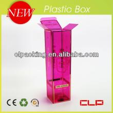 Clear plastic  pvc   transparent  packaging box for wine&champagne