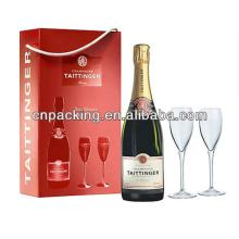 champagne flute packaging box with glassf