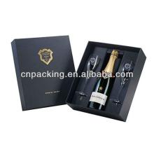 personalize champagne paper wine packaging box