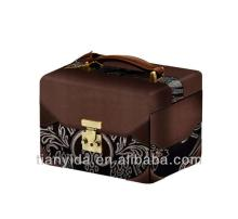 Dark Chocolate Leather Packing Jewelry Boxes