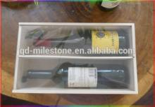 New Designed  Wooden  Wine Box with Glass  Lid