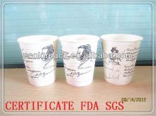 custom fancy single wall  paper   hot   cup
