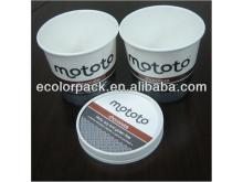 Wholesale ISO9001:2008 FDA custom recycled ice cream cup paper lid