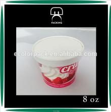 Wholesale design ISO9001:2008 FDA custom ice cream paper cup and lid
