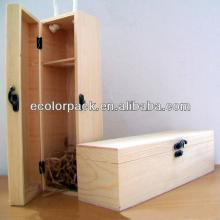 manufacture 1 bottle red wine wooden box with lock