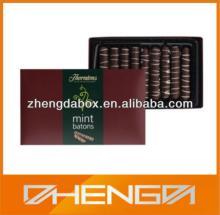 High quality guangzhou factory custom made nice dubai chocolate bar gift packing box (ZDCBS-A060)