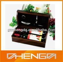 High quality customized made-in-china red wine wooden box(ZDWW-042)