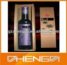 Guangzhou Factory Customized Made-In-China Red Wine Wooden Gift Wine Box (ZDSJ-W001)