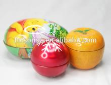 special easter egg shape candy tin can