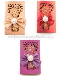 Die cut chocolate praline box with ribbon