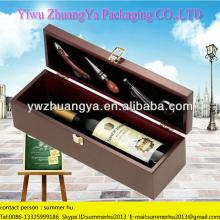 2014 Gift Box Wooden Red Wine Bottle Packaging Box with Wine Accessory