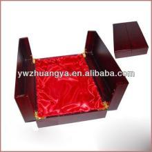 High polishing  wood  wine box furniture red wine bottle carton box with 2  doors
