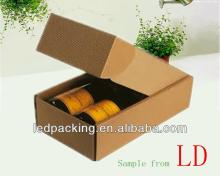 Custom ized 5 layers corrugated carton boxes for red wine packaging