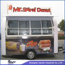 2014 FS290D Luxury Outdoor  Restaurant  Mobile Fast Food Cart with Wheels
