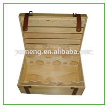 Practical solid red wine bottle wooden crates