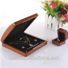 Large  Cinnamon Wooden Jewelry Boxes for Ring Necklace Bracelet Set