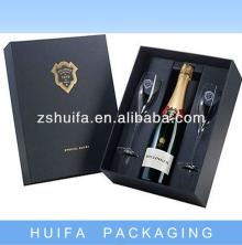 champagne wine glass packing gift box, View cardboard wine carrier box