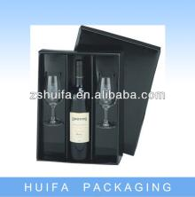 2 wine glass gift box with one champagne