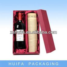 Custom cardboard red wine  glass   box  with specification
