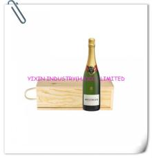2014 Champagne  wooden  case with s lid ing  lid