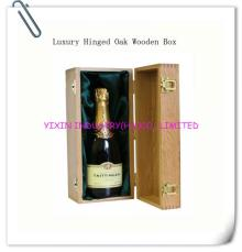 Luxury hinged oak wooden box for champagne YIXING1087
