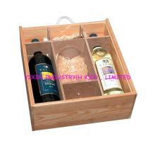 2014 Pine wooden red wine case for 2 bottles YIXIN357