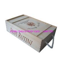 2014 Pine wooden red wine case for 2 bottles YIXIN358