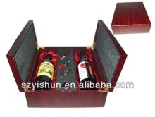 wholesale  wooden   red   wine  display box,a pair  wooden  box