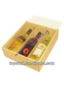 2013 Wholesale Antique Wooden Wine or Champagne Box Acrylic Lid 3x bottle