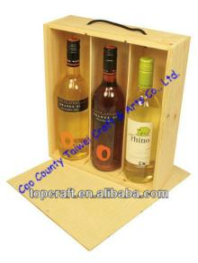 Premium Wooden Wine or Champagne Box 3x bottle(328 x 274 x 90)