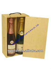 Wooden  Wine or Champagne Box for 2x bottles(328 x 185 x 90)
