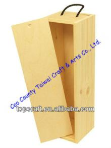 Wooden Wine or Champagne Box for 1x bottle(328 x 92 x 90)