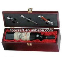 2013 High quality wooden red wine box with wine accessories