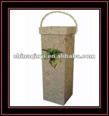 eco-friendly paper red wine box with handle