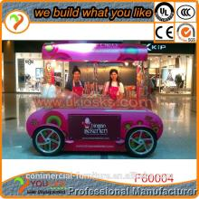 Customization candy kiosk , shop ping mall sweet corn kiosk for sale with CE approved chocolate bar ki
