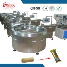 automatic customized industrial chocolate bar feeder and wrapper