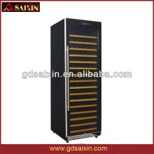 Slient Red Wine Cabinet,Stainless Steel Wine Cooler with Single-Zone SRW-168S