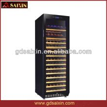 SRT-168 Slient Red Wine Cabinet / Stainless Steel Wine Cooler with Daul-Zone