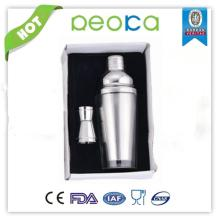 Red wine promotion real leather cups shaker cup sets