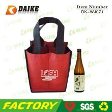 Customized Non Woven  Red   Wine  Carry Bags DK-WJ071