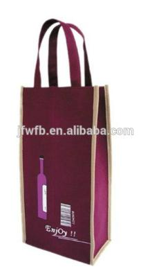 customized top grade pp non  woven   fabric  red wine bag, durable and recycled non  woven   fabric  handle