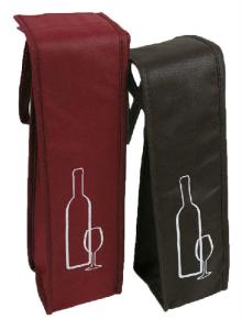 customized top grade high quality pp material non woven fabric red wine bag, durable and recycled no