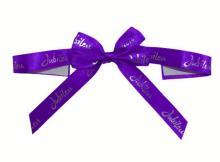 dark blue sticker ribbon bow