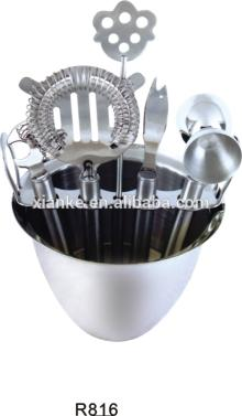Fashionable stainless steel party beer set with champagne cooler