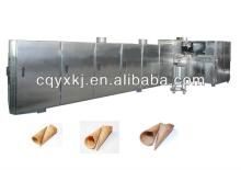 Automatic ice cream sugar rolled cone baking machine