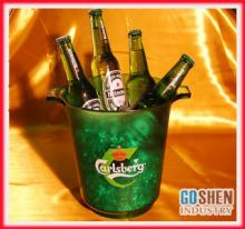 clear  plastic  champagne ice bucket